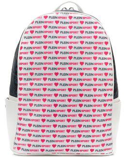 Allover Logo Print Backpack
