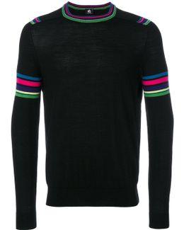 Multicolour Stripe Sleeve Sweater