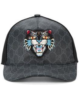 Gg Supreme Angry Cat Baseball Cap