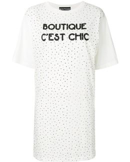 Studded T-shirt Dress