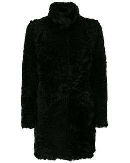 Furry Detail Buttoned Up Coat