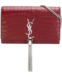 Crocodile Embossed 'kate' Clutch