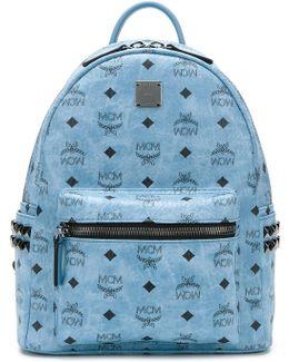 Logo Print Embellished Backpack
