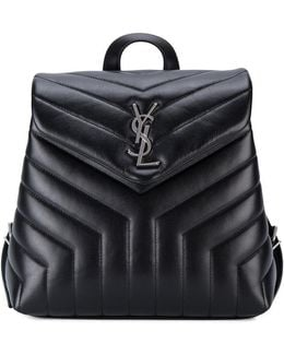 Small Monogram Leather Backpack