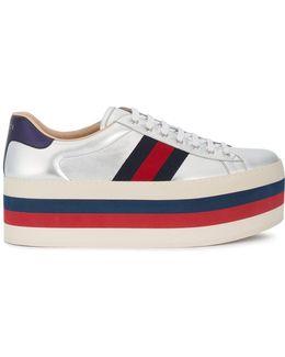 Gg Vintage Web Platform Sneakers