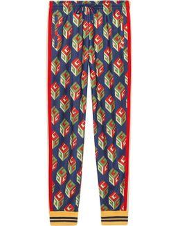Gg Wallpaper Technical Jersey Pant