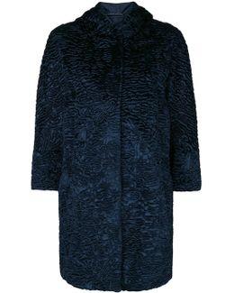 Textured Hooded Coat