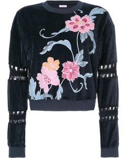 Cut Out Floral Sweatshirt