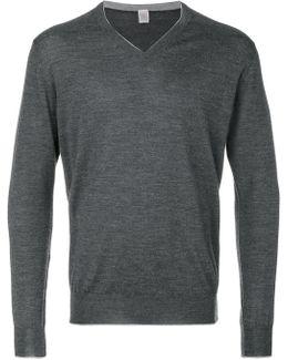 V Neck Sweatshirt