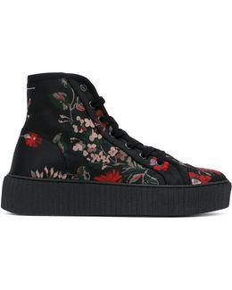Floral Print Hi-top Sneakers