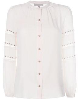 Lace Stripe Stud Shirt