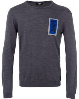 Love Patch Knitted Jumper