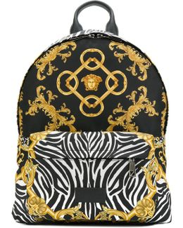 Baroque Zebra Print Backpack