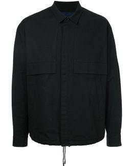 Drawstring Shirt Jacket