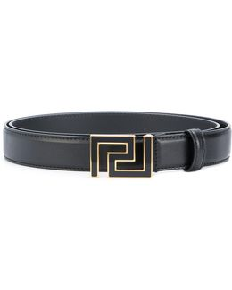 Greek Key Buckle Belt