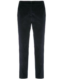 Velvet Straight Trousers