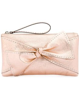Bow Applique Clutch Bag