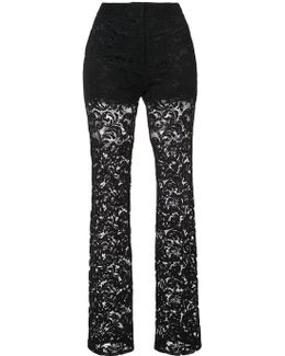 Short Lined Lace Trousers
