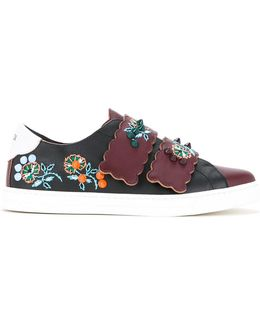 Floral Patch Sneakers