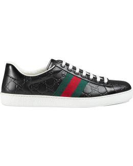Sneaker Bassa 'ace' In Pelle Signature