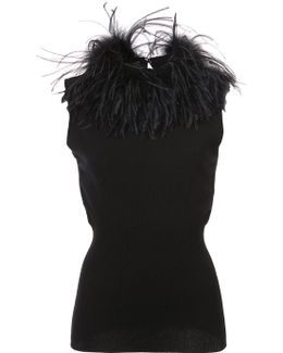 Feather Trim Top