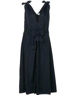Paper Fabric Tied Shoulder Dress