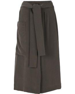 Draped Midi Skirt