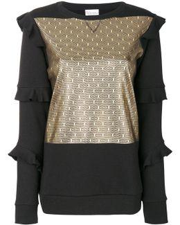Ruffled Panelled Sweatshirt