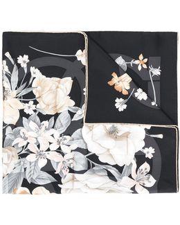 Gancio Floral Print Scarf