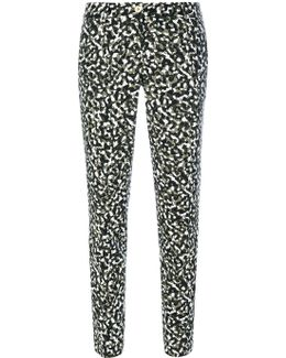 Patterned Tapered Trousers