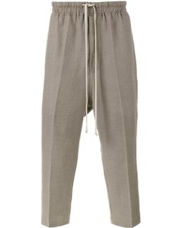Drop-crotch Cropped Trousers