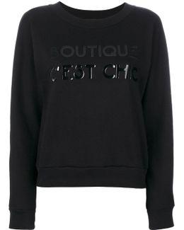 Tonal Print Sweatshirt