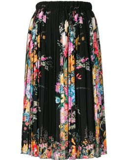 No21 Floral Print Mid Skirt