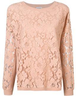 Floral Lace Detail Sweatshirt