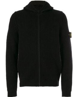 Zip Up Hooded Cardigan