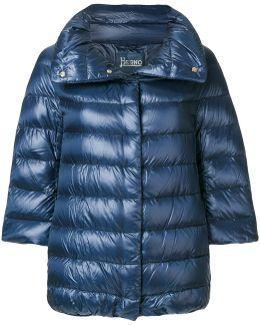 Cropped Sleeve Padded Jacket