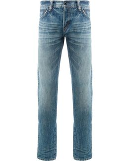 Fade Wash Skinny Jeans