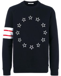 Stars And Stripe Pattern Sweatshirt