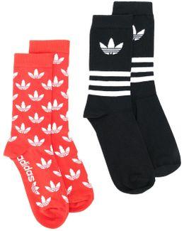 Two Pair Logo Socks