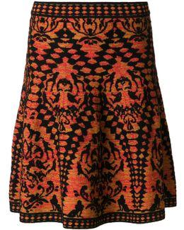 Woven A-line Skirt