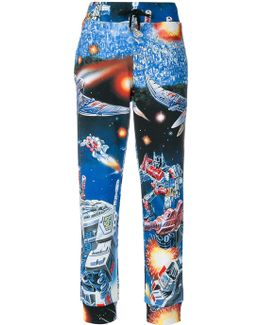 Space Print Track Pants
