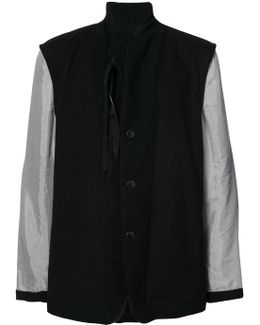 Contrast Sleeve Coat