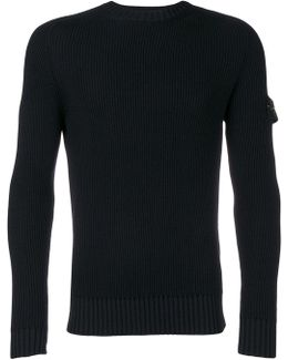 Fitted Crew Neck Sweater