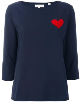 Heart Embroidered Top