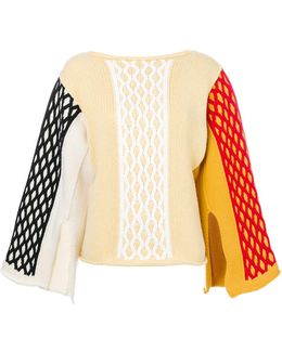 Colour Block Cable Knitted Top