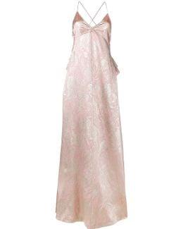 Brocade Silk Evening Dress