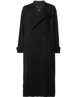 Boxy Double-breasted Long Coat