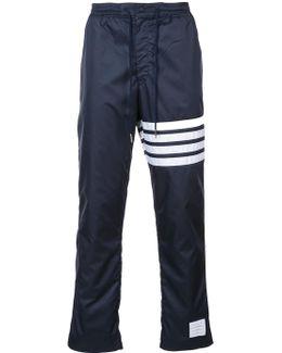 Stripe Detail Straight Leg Trousers
