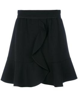 Frill Trim Wrap Style Skirt