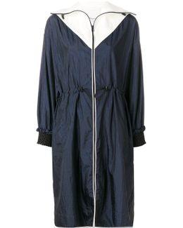 Contrast Lightweight Parka Coat